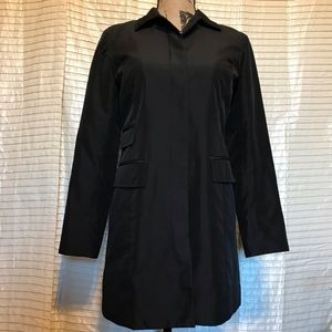 Loft Ann Taylor Black Trench / Rain Coat Size XSP